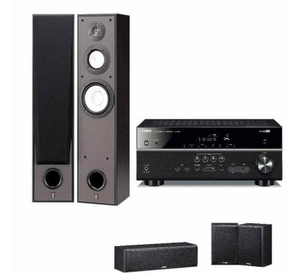 Комплект Yamaha Movie SET 7390: RX-V385+NS-7390+NS-P51 Black
