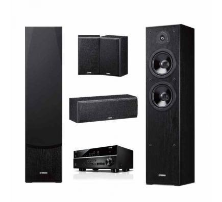 Комплект Yamaha Kino SYSTEM 385: RX-V385+NS-F51+NS-P51 Black