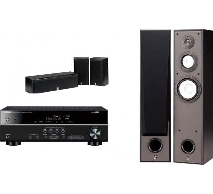 Комплект Yamaha Movie SET 7390: RX-V385+NS-7390+NS-P60 Black