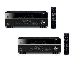 Комплект из Yamaha RX-V485 Black+Yamaha RX-V485 Black
