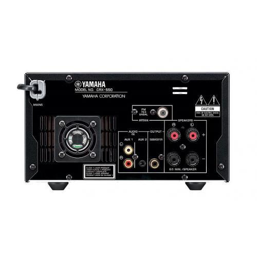 Yamaha MCR-550 Silver-Piano Black